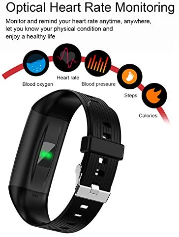 CADIC Fitness Tracker for Women and Men with Heart Rate Sleep Monitor Step Calorie Counter IP67 Waterproof Black